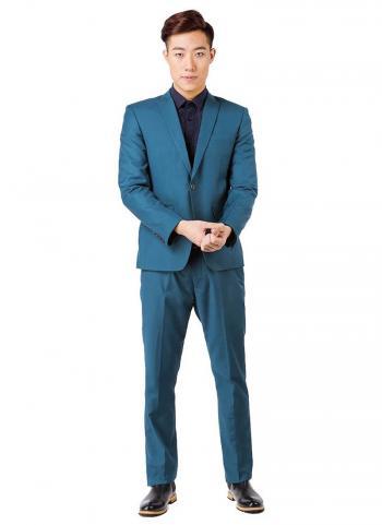 Bộ vest nam Fonto 007 màu xanh ngọc