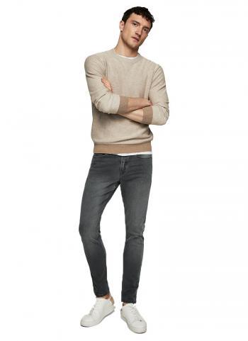 Quần jeans Mango 23075700 Skinny fit màu đen