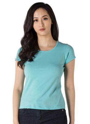 Áo thun nữ tay ngắn Vicci màu xanh ngọc