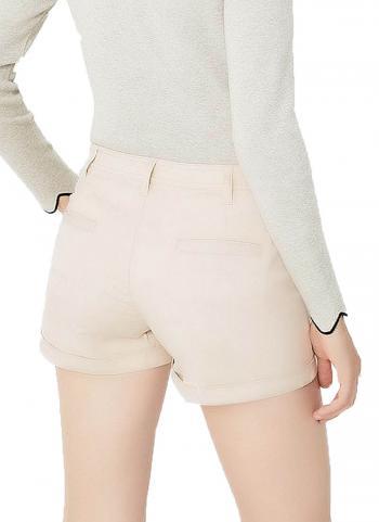 Quần shorts Mango 13053011 lật lai màu be