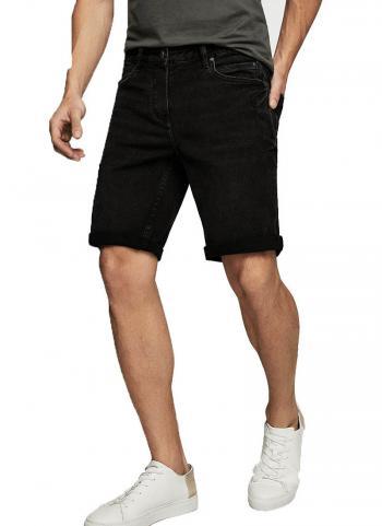 Quần shorts jean Mango 23065653 màu đen