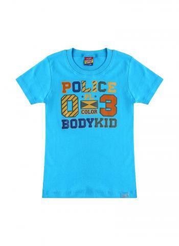 Áo thun bé trai Police Bodykid KC001 cổ tròn tay ngắn màu xanh da trời