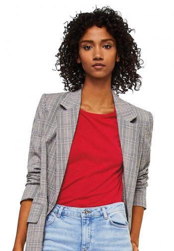 Áo thun Mango 23035700 tay xẻ cột nơ màu đỏ